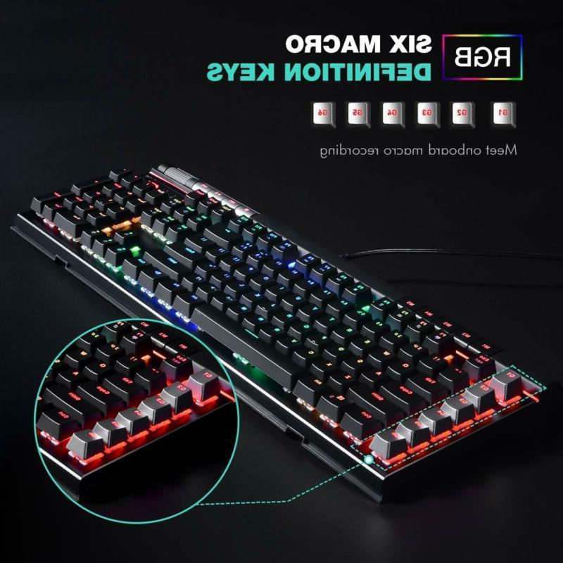 Havit Mechanical Keyboard LED 120 Ergonomic Res