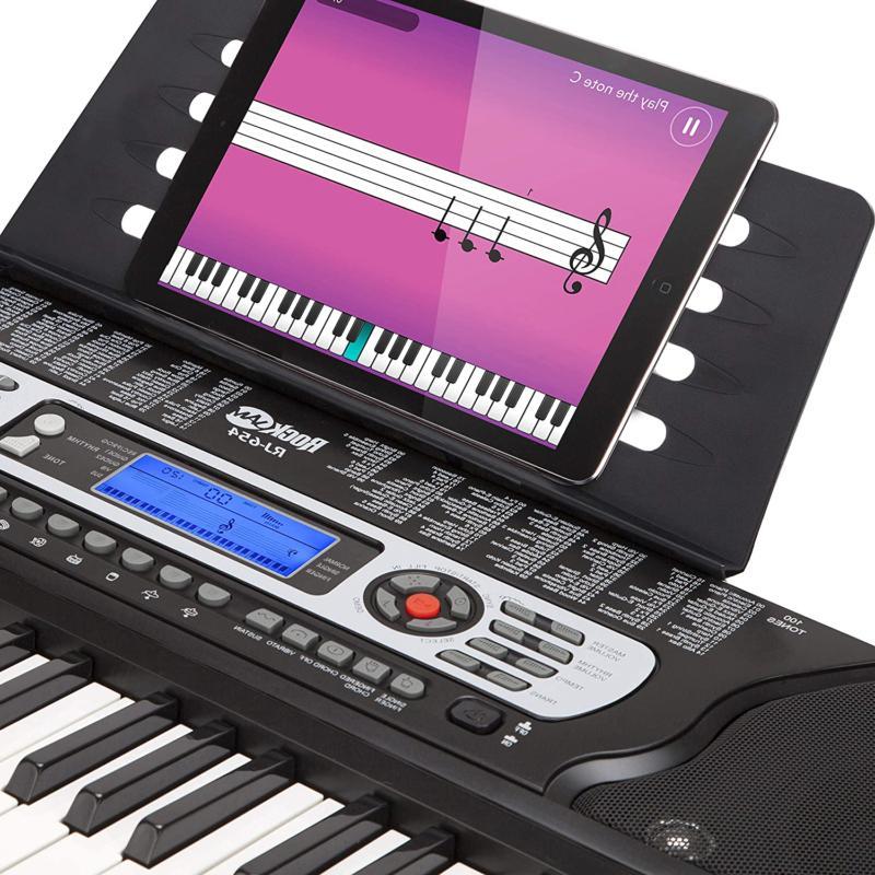 Rockjam 54-Key Portable Keyboard Screen Includ
