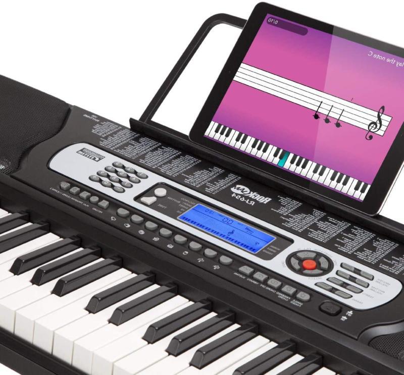 Rockjam 54-Key Electronic Keyboard With Interactive Screen