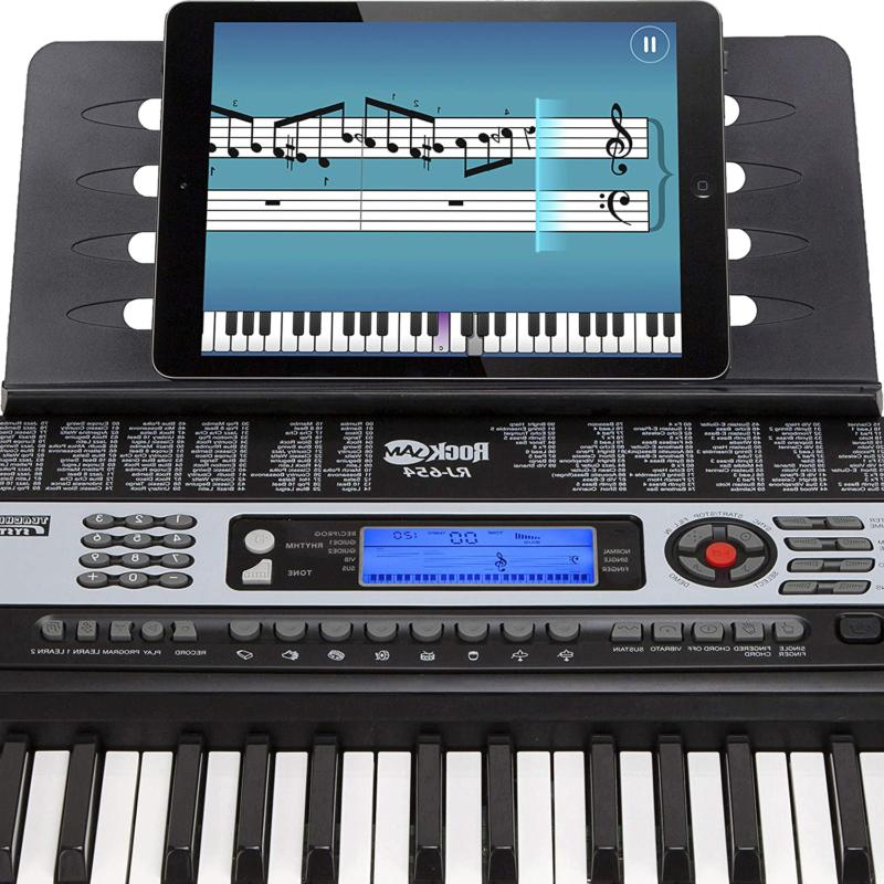 Rockjam 54-Key Portable Keyboard With Interactive Lcd Screen Includ