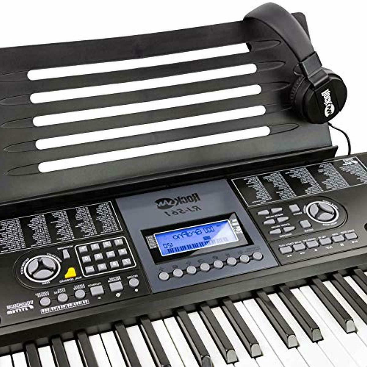 RockJam Piano SuperKit with Stand, Stool,