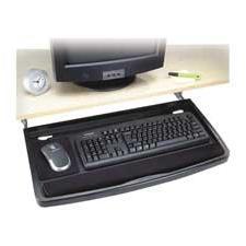 "Underdesk Keyboard Drawer,w/Mouse Tray,26""""x13-1/2"""",Black,"