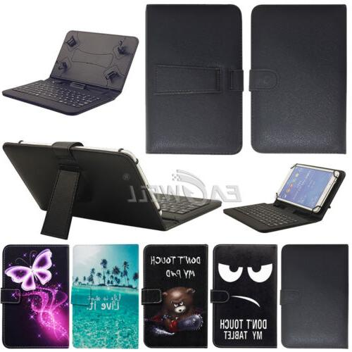 """US Universal USB Micro Keyboard Leather Case Cover For 7"""" In"""