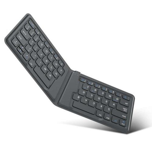 MoKo Wireless Bluetooth Keyboard, Ultra-Thin Foldable Rechar