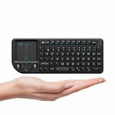 Rii X1 2.4Ghz Mini Wireless Keyboard touchpad for PC smart T