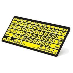 Logickeyboard LargePrint Bluetooth Black on Yellow Keyboard