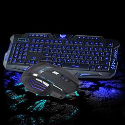 LED Backlit Gaming Keyboard WITH 3 Colorways + Alternating L