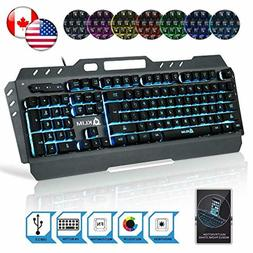 Lightning Pro Gaming Keyboard Led 7 Colors Light Up Pro Game