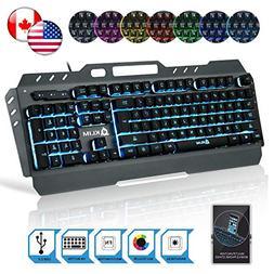 KLIM Lightning Gaming Keyboard - Semi Mechanical - Led 7 Col