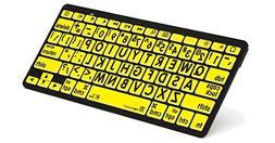 LogicKeyboard XL Print - black on yellow Bluetooth Mini Keyb