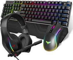 HAVIT Mechanical Keyboard Mouse Headset Kit, Blue Switch Key