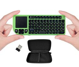 Favi Mini Keyboard with Laser Pointer - Green
