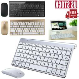 Mini USB 2.4G Wireless Keyboard & Mouse Combo Cordless Kit f