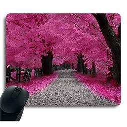 Neon Pink Sakura Cherry Blossom Red Leaves Tree Decorative C