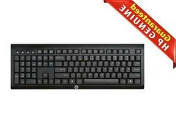 New HP K2500 Wireless Keyboard US Black keyboard -E5E77AA#AB