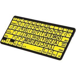 LogicKeyboard Large Print Black on Yellow Bluetooth Mini Key
