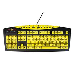 Keys-U-See Large Print USB Wired Computer Keyboard  Great fo