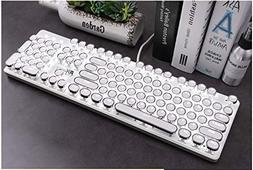 Retro Vintage Mechanical Typewriter with White LED Backlit K