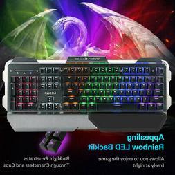 RGB 7 Colour LED Gaming Mechanical Keyboard USB RGB Lighting