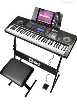 RockJam RJ-761 61-Key Electronic Interactive Teaching Keyboa