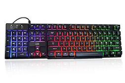 Rii RK100+ Multiple Color Rainbow LED Backlit Large Size USB