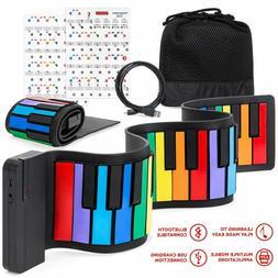 Roll Up Piano Keyboard Kids 49 Key Portable Flexible Musical