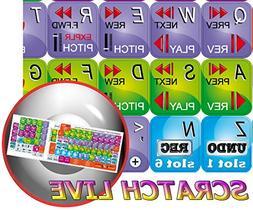 NEW SERATO SCRATCH LIVE KEYBOARD STICKERS by 4Keyboard