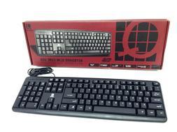 Q Micro Slim Cube Multimedia USB Keyboard & Mouse Combo