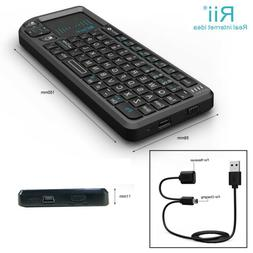 Rii tek X1 Mini 2.4G Black Wireless Keyboard with Mouse Touc