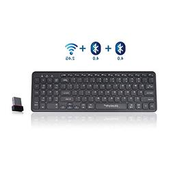 Universal Wireless Bluetooth Keyboard, bluebyte Multi-Device