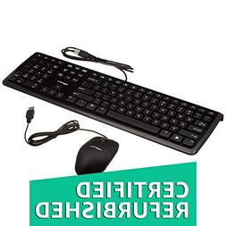 AmazonBasics Wired Keyboard and Wired Mouse Bundle Pack