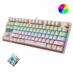 Wired Mechanical Gaming Keyboard Blue Switch Chroma RGB Back