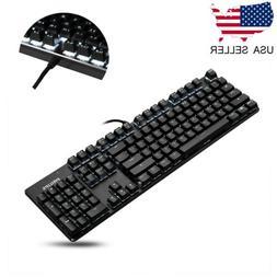 Wired Mechanical Handfeel 104 Keys Gaming Keyboard LED Backl