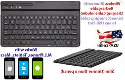 Wireless Bluetooth Keyboard Slim For Macs, Android, Apple, I