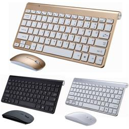 Wireless Keyboard And Mouse Combo Set 2.4G For PC Laptop Com
